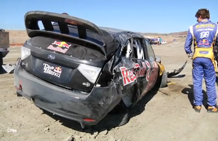 CRASH Pastrana Crashes Hard in Practice