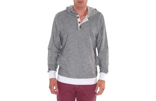CAPTAIN PULLOVER IN GREY NOISE $66.00