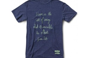 Men\'s Heather Navy Art of Vision Tee ($28)