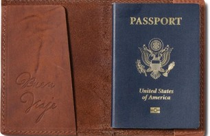 TOMS Saddle Brown Passport Cover ($26)