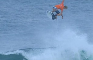 John John Florence and his Massive Aerial Highlight Day One of Oakley Pro Bali