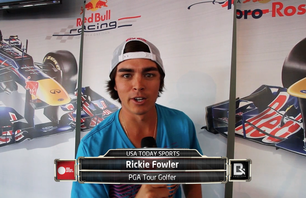 Rickie Fowler Heads Out To Red Bull\'s F1 Race