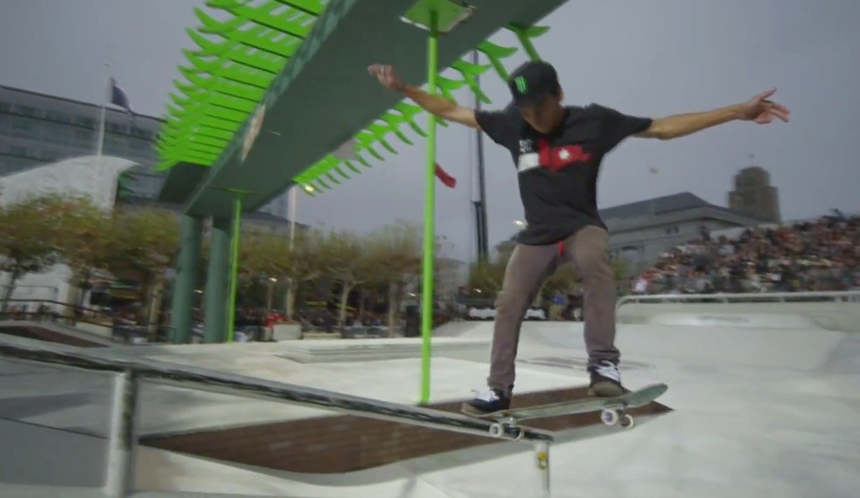 Skate Street Semi-Finals Highlights feat. Chaz Ortiz, Nyjah Huston - Dew Tour San Francisco 2012