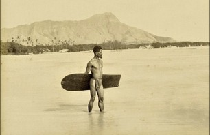 First Photo of a Surfer (1890)