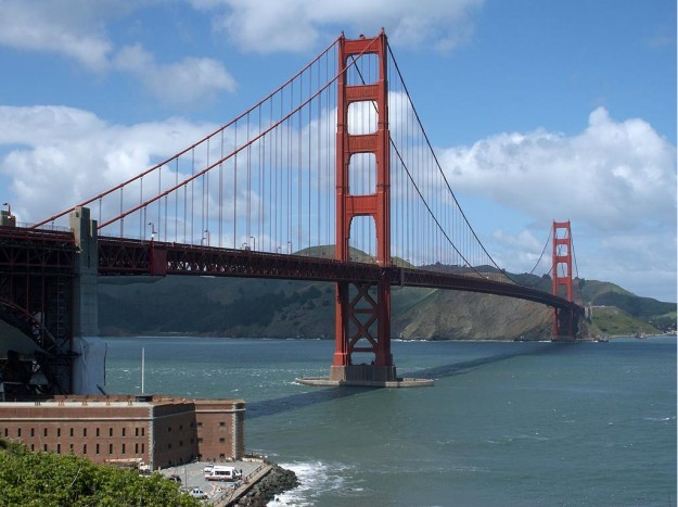 golden gate bridge jumper. The Golden Gate Bridge from Ft