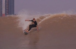 Surfing China\'s River Wave the \
