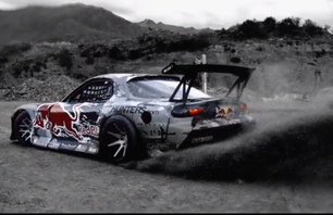 The Red Bull Mazda RX-7 Drifts Across New Zealands Crown Range