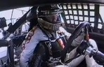 Dick Trickle smoking in the NASCAR car, Circa 1991