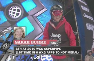 Sarah Burke\'s Gold Medal X Games 15 Pipe Run