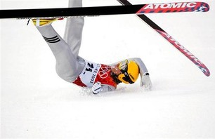 Ski Jump Crash Gallery