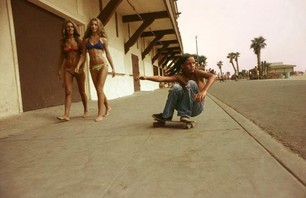 Blast to the Past: Sidewalk Surfer, Huntington Beach 1976 Photo 0001