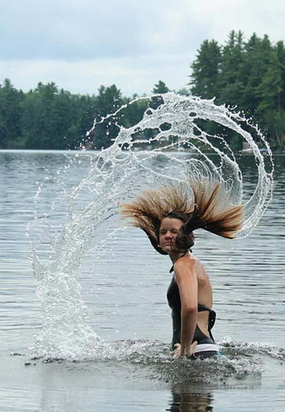 Hot Girl + Hair Toss = Amazing