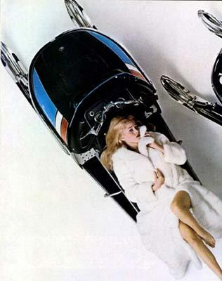 70s Starlets on Old School Snowmobiles