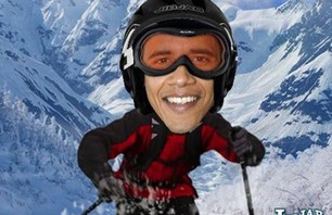 Obama Romney Sporting Presidents