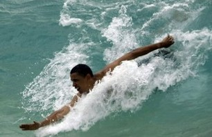 Obama, I wanna go Surfing Video
