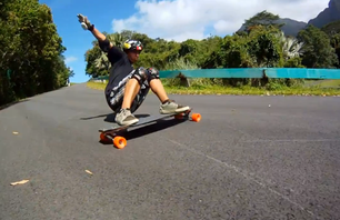 Longboarders Show off Some Moves Down Oahu\'s Mountain