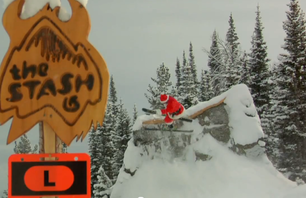 Santa Shows Off Some Skills From Jackson Hole