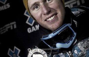 Russ Henshaw wins silver in Men\'s Ski Slopestyle finals Credit: Credit: Christian Pondella