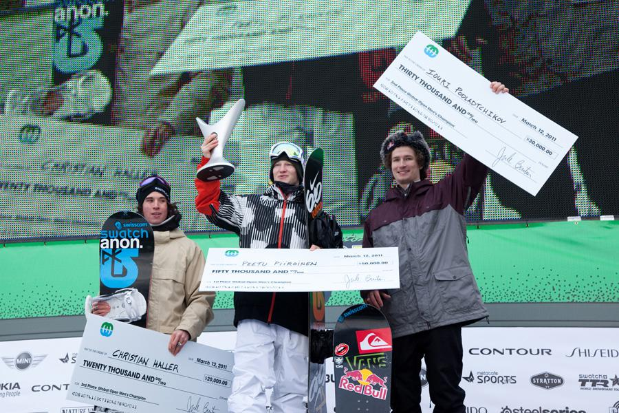 Podium at Burton US Open