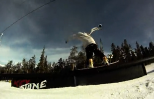 Austin Sweetin and Daniel Ek park laps at Keystone