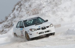 Travis and Terry Hanson win the Sno*Drift Rally