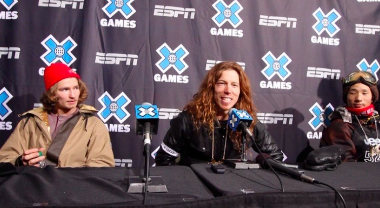 Shaun White Gold Medal Press Conference