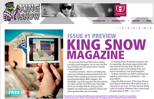 King Snow Premiere Issue to Drop