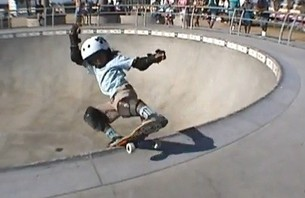 The Next Hosoi? 6-year-old Rips Venice Skatepark