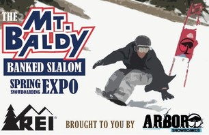 Mt Baldy Banked Slalom Snowboarding Contest - March 27