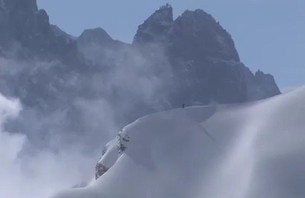 Flashback - Skier\'s Cliff Drop Breaks Record