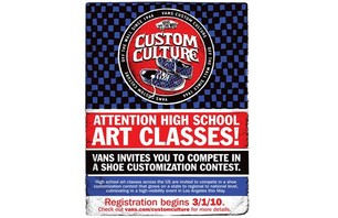 Vans Presents Custom Culture Contest
