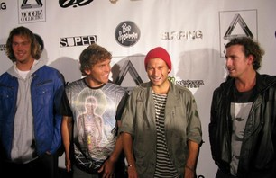 Jordy Smith, Yadin Nicol, Dion Agius and Mitch Coleborn at Modern Collective premiere