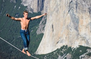 Tightrope Highline Adventurers Defy Death