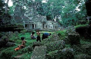 Abandoned Ta Prohm Temple in Middle of Jungle Photo 0003