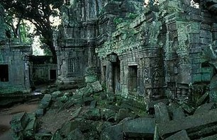 Abandoned Ta Prohm Temple in Middle of Jungle Photo 0010