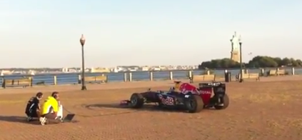 Video of the Day: The Red Bull F1 Running Showcar Plays The Star-Spangled Banner
