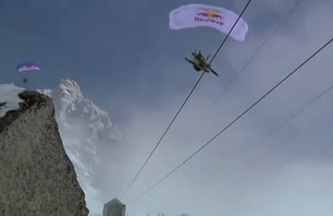Antoine Montant Speed Flying in Chamonix, France