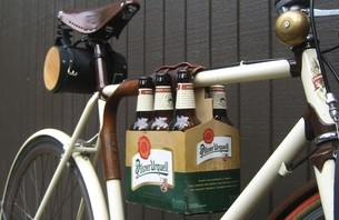 Happy Hour: Leather 6-Pack Rack for your Bike