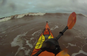 Kayak Surfing a Winter Nor'easter [+Vid]