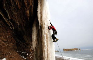 Ice Climbing the Gaspe Peninsula