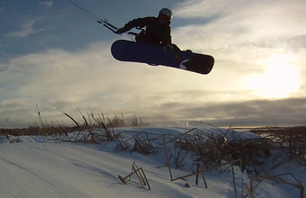 Snowkiting in the Heartland