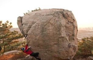 Bouldering in Qingdao, China. Photos by Rocker, courtesy of Climbing.com.