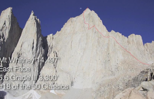 Climbing the East Face of Mt. Whitney